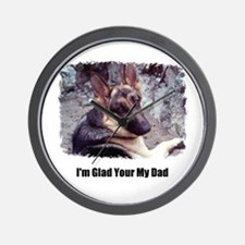 GLAD YOUR MY DAD Wall Clock