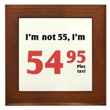 Funny Tax 55th Birthday Framed Tile