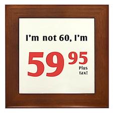 Funny Tax 60th Birthday Framed Tile