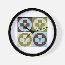 Phlebotomy Pop Art Wall Clock