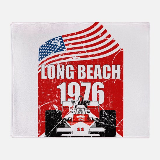 Long Beach 1976 Throw Blanket