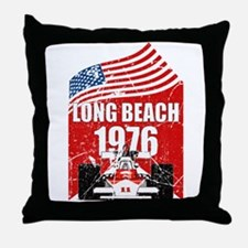 Long Beach 1976 Throw Pillow