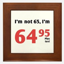 Funny Tax 65th Birthday Framed Tile