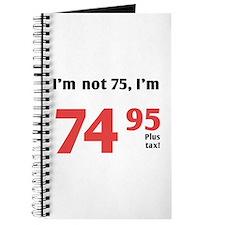 Funny Tax 75th Birthday Journal