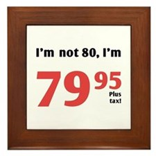 Funny Tax 80th Birthday Framed Tile