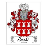 Rocchi Family Crest Small Poster