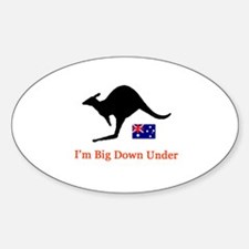 Big Down Under Oval Decal
