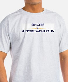 SINGERS supports Palin T-Shirt