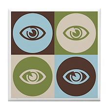 Optometry Pop Art Tile Coaster