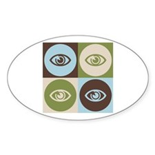 Optometry Pop Art Oval Decal