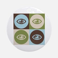 Optometry Pop Art Ornament (Round)