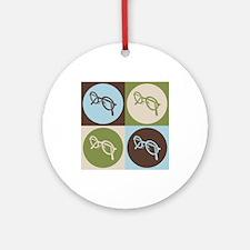 Optics Pop Art Ornament (Round)