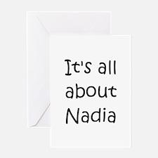 Unique Nadia Greeting Card