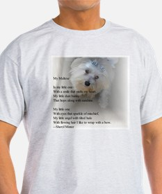 Maltese Poem Ash Grey T-Shirt