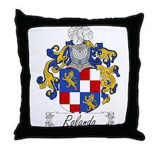 Rolando Family Crest Throw Pillow