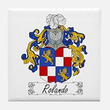 Rolando Family Crest Tile Coaster