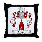 Ronchi Family Crest Throw Pillow