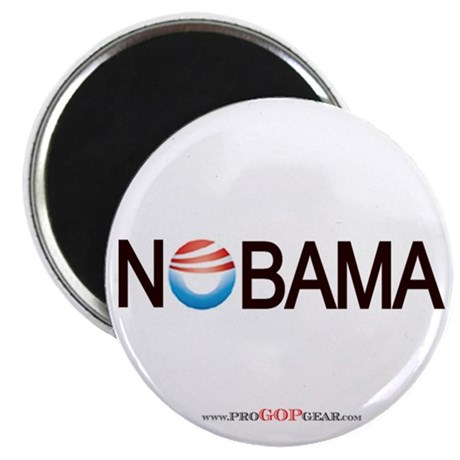 """Nobama '08"" 2.25"" Magnet (10)"