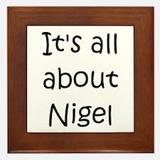 Cute Nigel Framed Tile