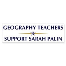 GEOGRAPHY TEACHERS supports P Bumper Bumper Sticker
