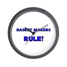 Basket Makers Rule! Wall Clock