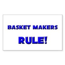 Basket Makers Rule! Rectangle Decal
