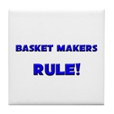 Basket Makers Rule! Tile Coaster