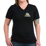 No Lambs Harmed Women's V-Neck Dark T-Shirt