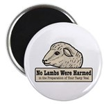 "No Lambs Harmed 2.25"" Magnet (100 pack)"