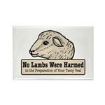 No Lambs Harmed Rectangle Magnet (10 pack)