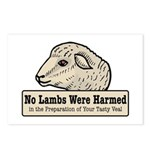 No Lambs Harmed Postcards (Package of 8)