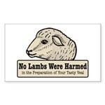 No Lambs Harmed Rectangle Sticker