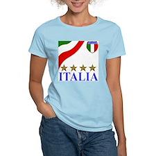 Italia 4 star Italian Women's Pink T-Shirt