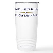 AIRLINE DISPATCHERS supports Travel Mug