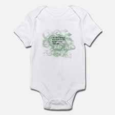 Cool Gandhi be the change Infant Bodysuit