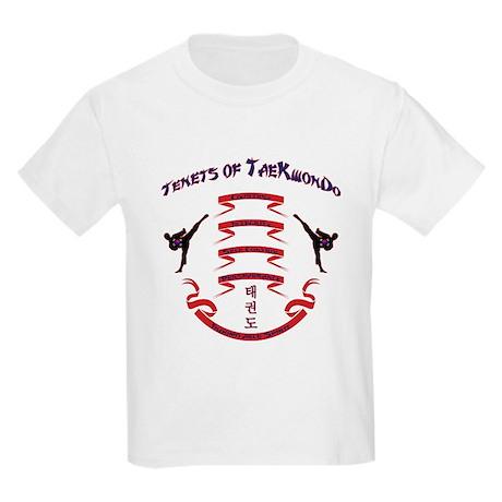 Tenets of TaeKwonDo Kids Light T-Shirt