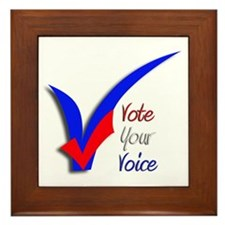 Framed Tile-VOTE YOUR VOICE