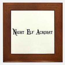 Night Elf Acrobat Framed Tile
