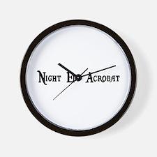 Night Elf Acrobat Wall Clock