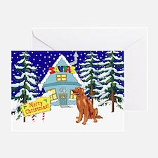 Santas Place Irish Setter Greeting Card