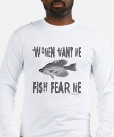 FISH FEAR ME Long Sleeve T-Shirt