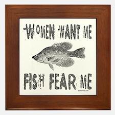 FISH FEAR ME Framed Tile