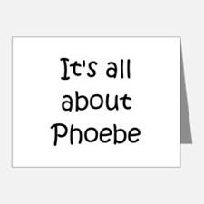 Unique Phoebe Note Cards (Pk of 20)