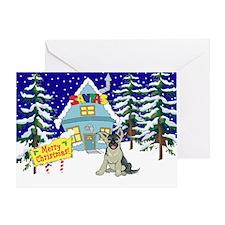 Santas Place German Shepard Greeting Card