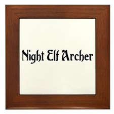 Night Elf Archer Framed Tile