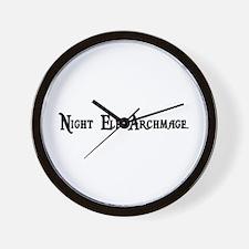 Night Elf Archmage Wall Clock