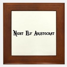 Night Elf Aristocrat Framed Tile