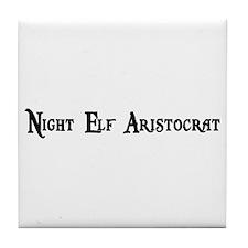 Night Elf Aristocrat Tile Coaster
