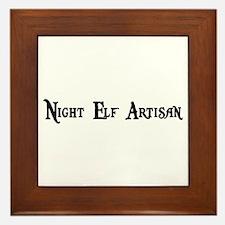 Night Elf Artisan Framed Tile