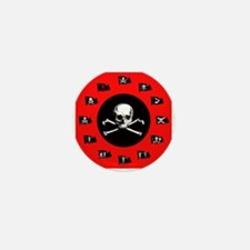 Red Pirate- Jolly Roger Mini Button